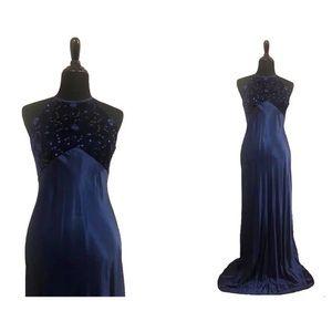 Zum Zum | Vintage Navy Blue Evening Gown, Size 11
